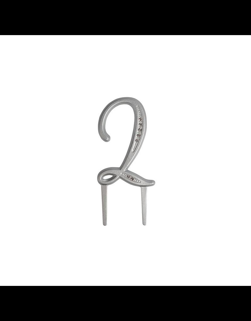 2: Sweet Store Taarttopper luxe cijfer 2