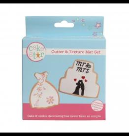 Cake Star Cutter & texture mat set dress and cake