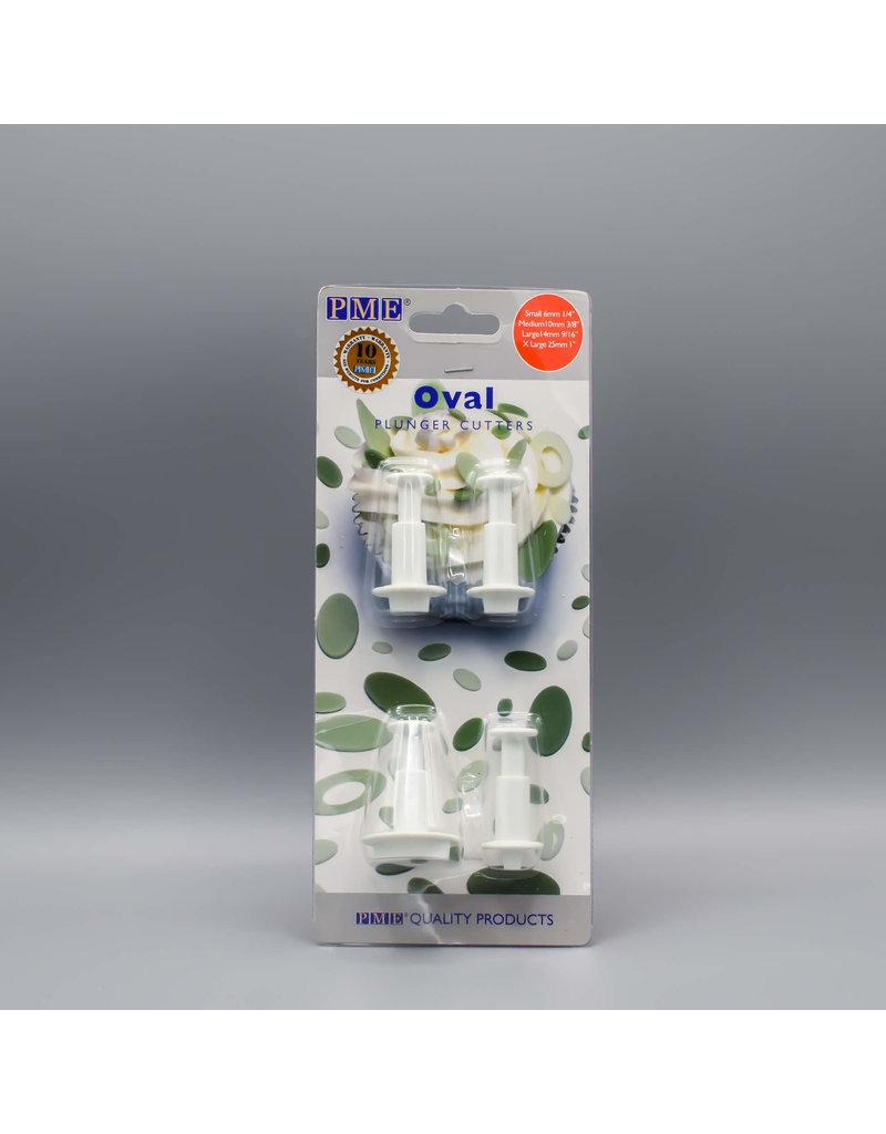 PME Plunger cutter ovaal set/4