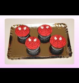 1: Sweet Planet Spiderman Cupcakes