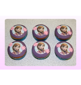 1: Sweet Planet Frozen Anna Cupcakes