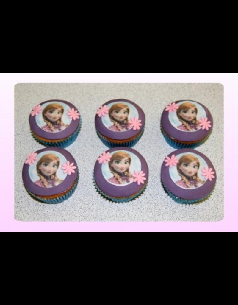 1: Sweet Planet Frozen Anna Cupcakes