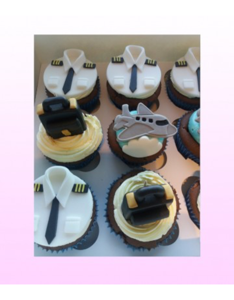 1: Sweet Planet Luchtvaart cupcakes