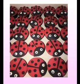 1: Sweet Planet Lieveheersbeestjes cupcakes