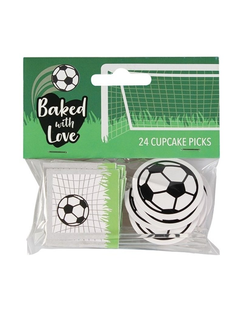 Baked with love Cupcakes prikkers voetbal