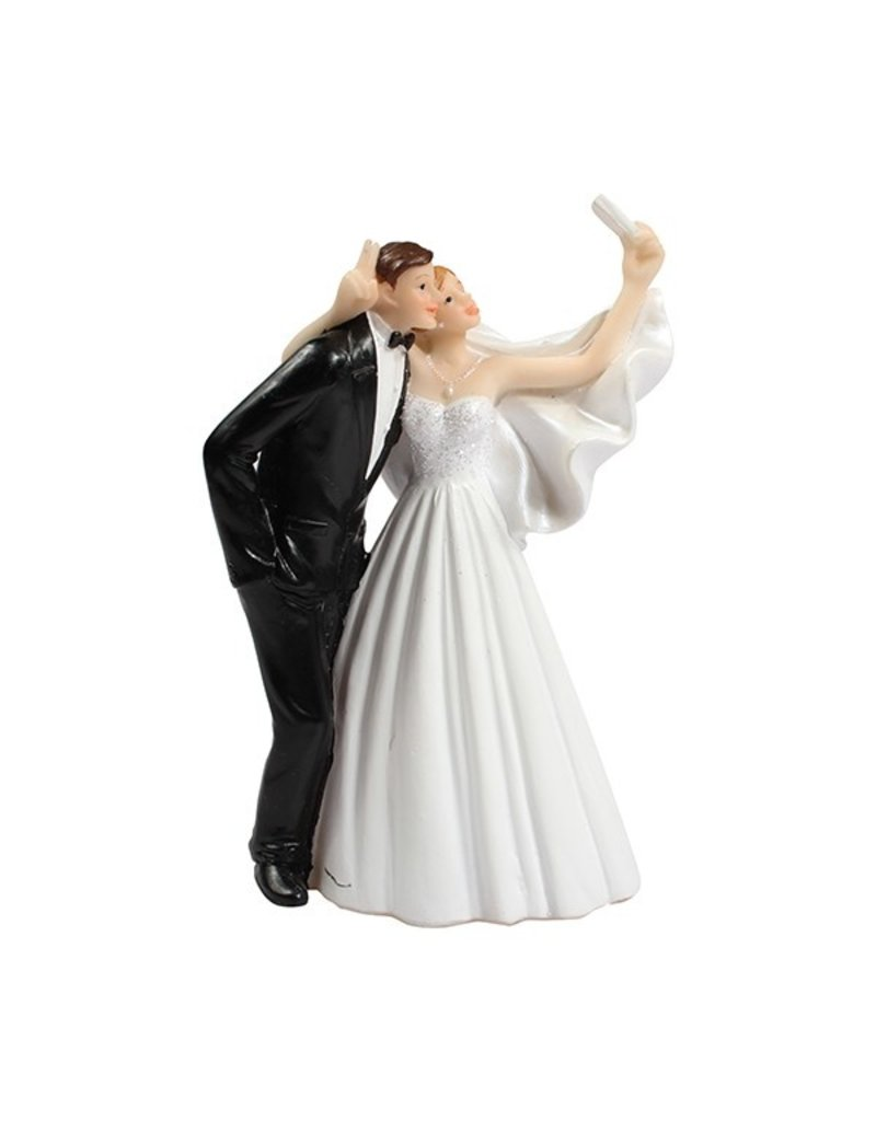 2: Sweet Store Taarttopper bruidspaar selfie