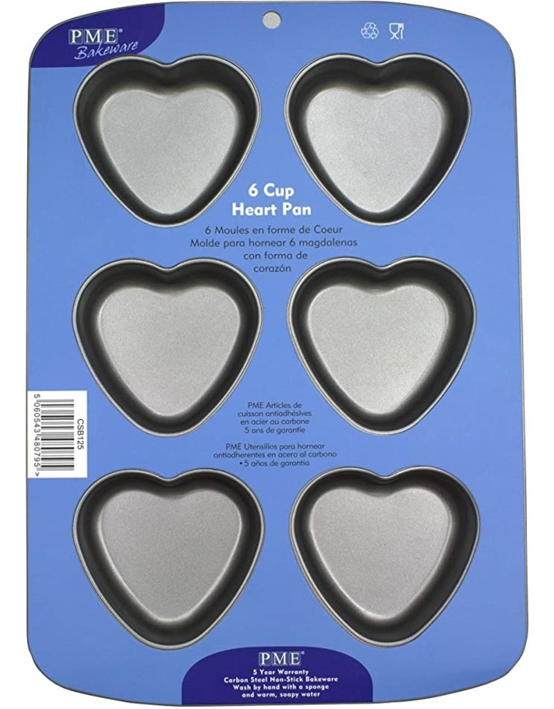 PME Bakvorm hart 6 stuks