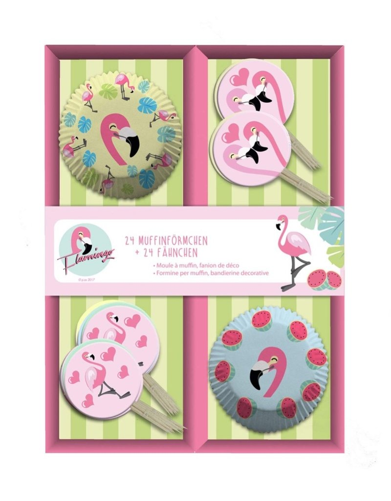Cupcake box Flamingo 24 stuks