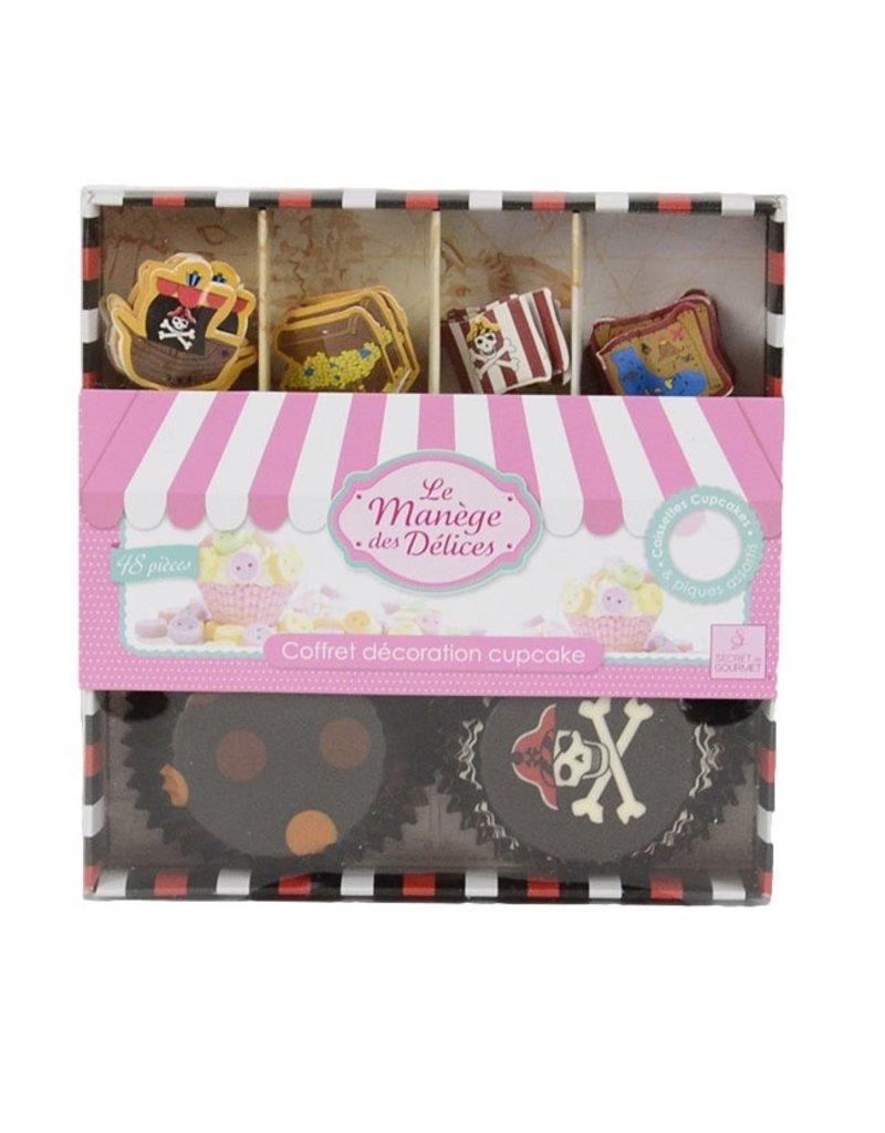 Cupcake box Piraten 24 stuks