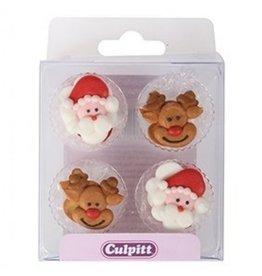 Culpitt Suikerdecoratie Santa & Rudolph 12st.