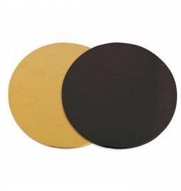 2: Sweet Store Taartkarton zwart/goud 15 cm