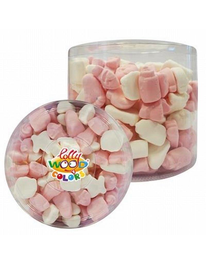 Foam baby snoep mix roze