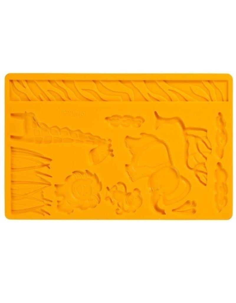 Wilton Siliconen mold dieren (jungle animals)