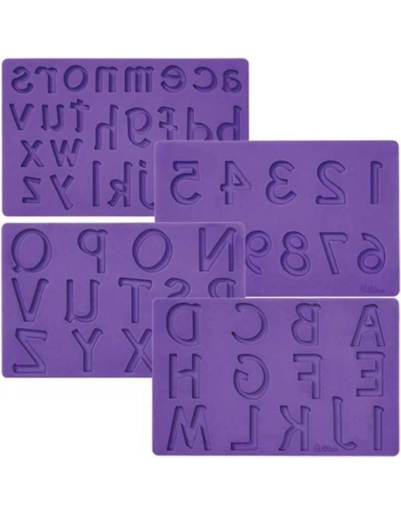 Wilton Siliconen mold Letters / Numbers set/4
