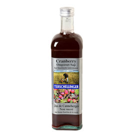 Terschellinger Cranberrysap ongezoet 0,75 ltr
