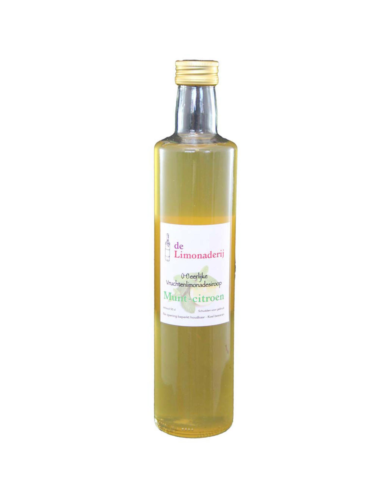 De Limonaderij Munt-citroen siroop  0,5 ltr