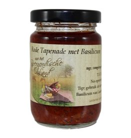 Boergondisch Land Rode tapenade met basilicum 90 ml
