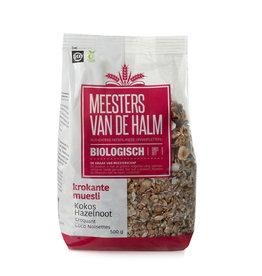 De Halm Muesli kokos krokant (hazelnoot) 500 gr