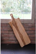 Houten langwerpige plank met koord