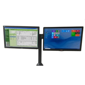 """Newcastle Systems Dual  Monitor Holder  side-by-side 2x 27"""""""