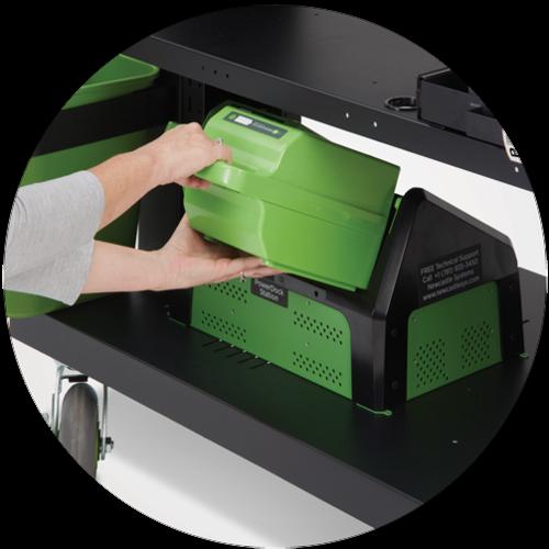 Newcastle Systems PC LARGE Serie PoweredKit - Mobiler Arbeitsplatz mit Stromversorgung