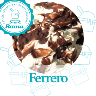 Dagvers roomijs per liter Ferrero