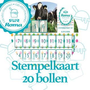 Roma-ijs Essen Stempelkaart 20 bollen