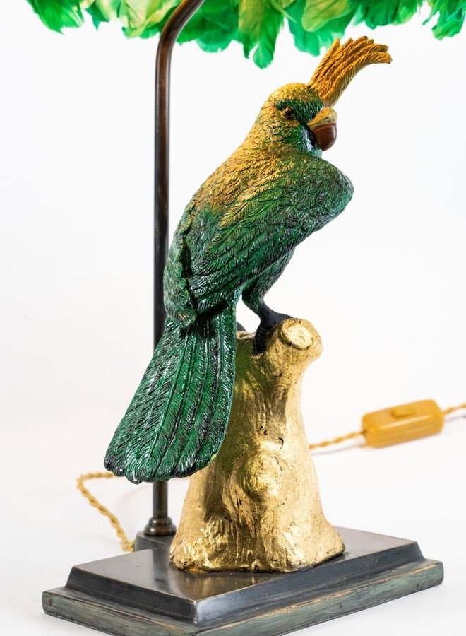 "Table lamp ""Dirty speaking parrot"""