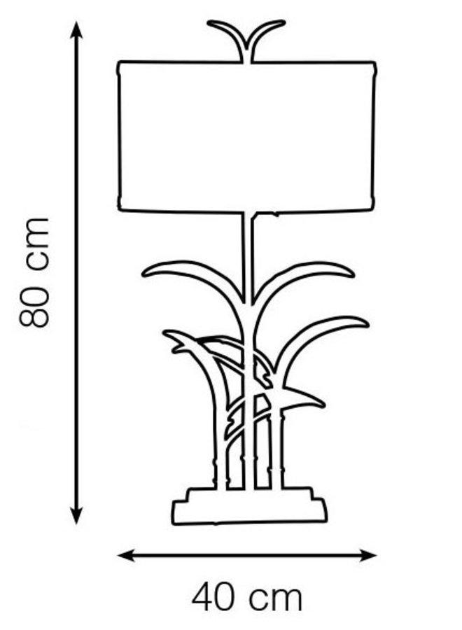 "Table lamp ""Bambou noir"""