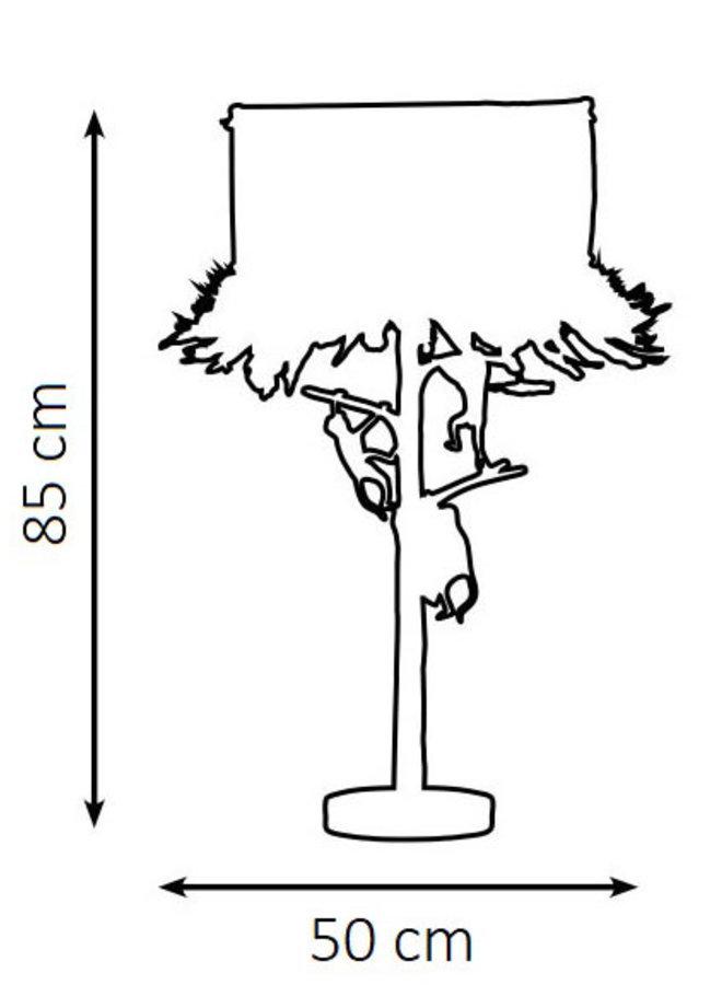 "Table lamp ""Monkey tree"""