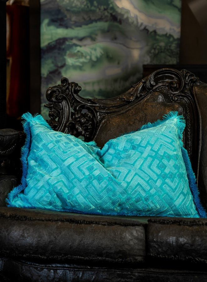 "Cushion ""Giada"" - blue"