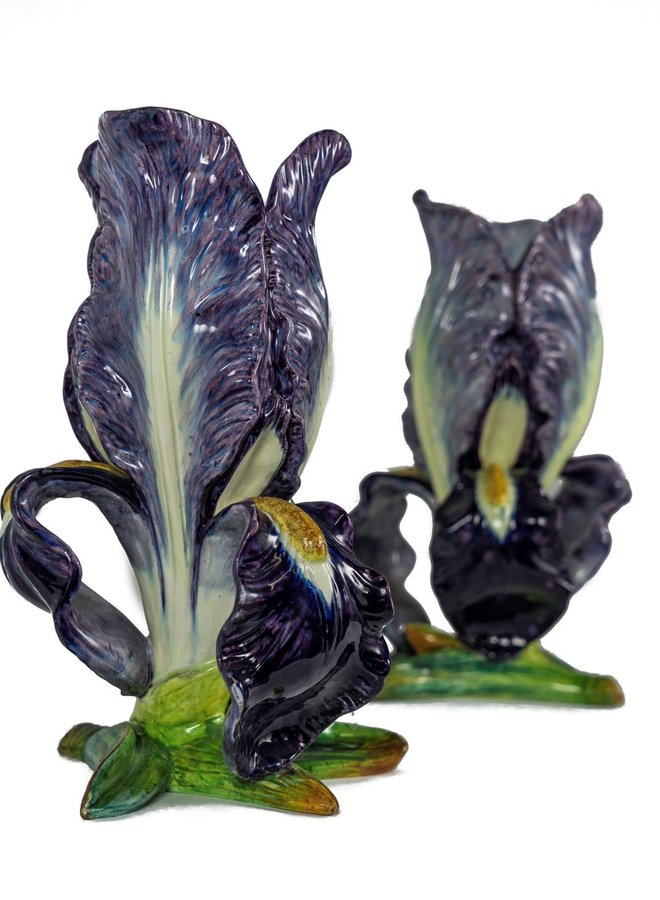 Set Majolica Irises