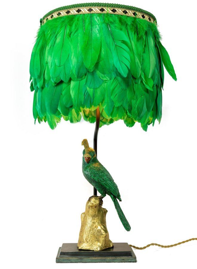 """Table lamp """"Dirty speaking parrot"""""""