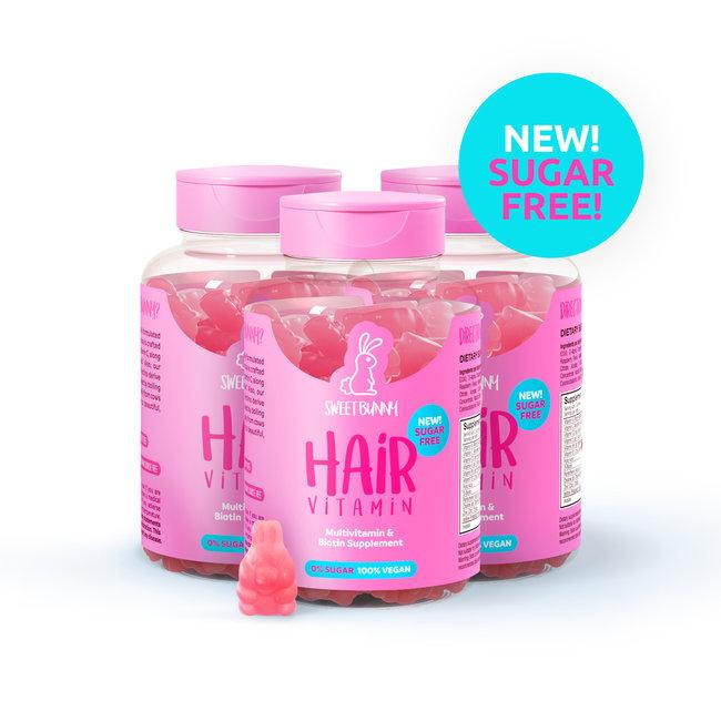 Sweet Bunny Hair Vitamin 3 months Volume pack - SUGAR FREE