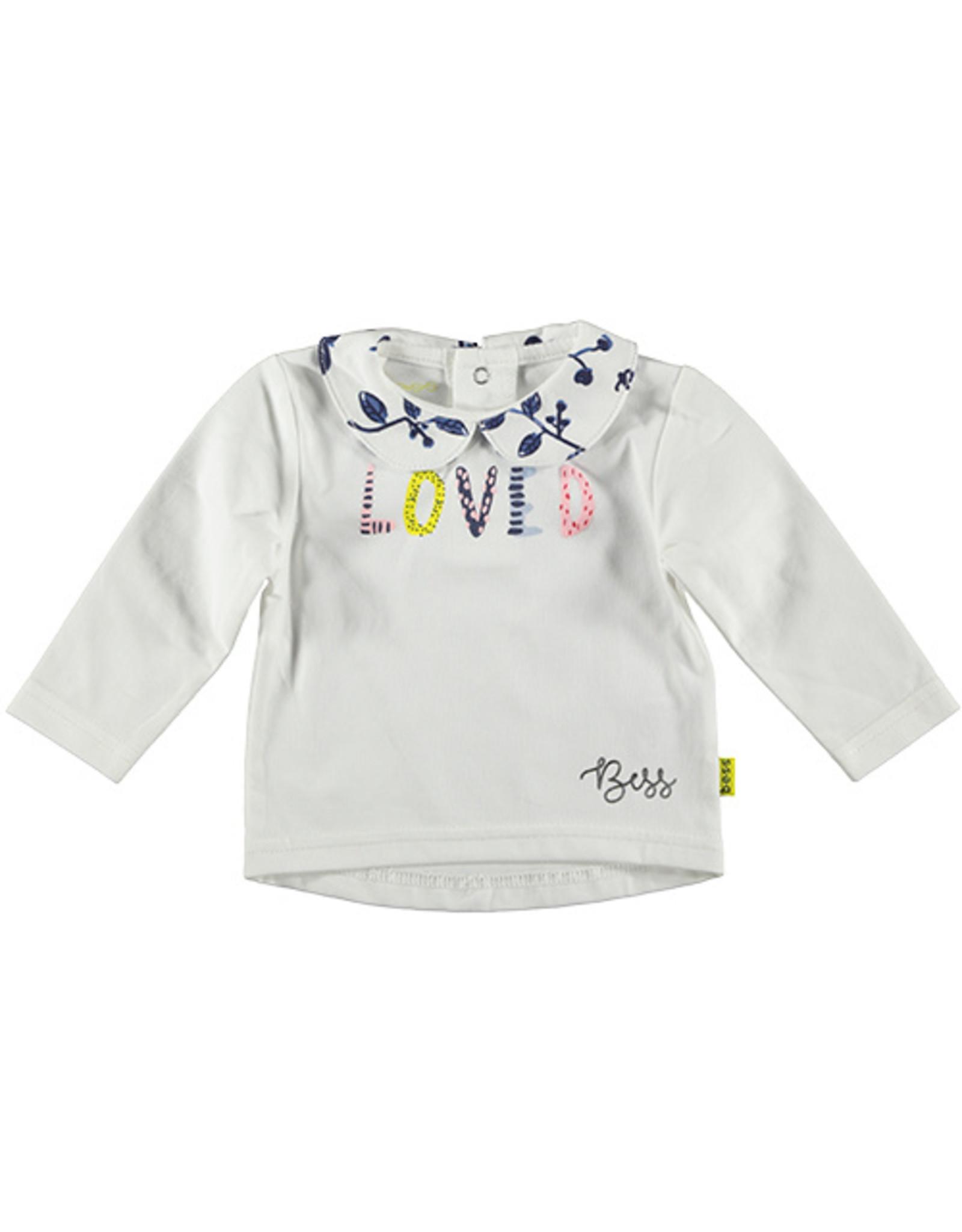 B.E.S.S. Shirt l.sl. LOVED, White
