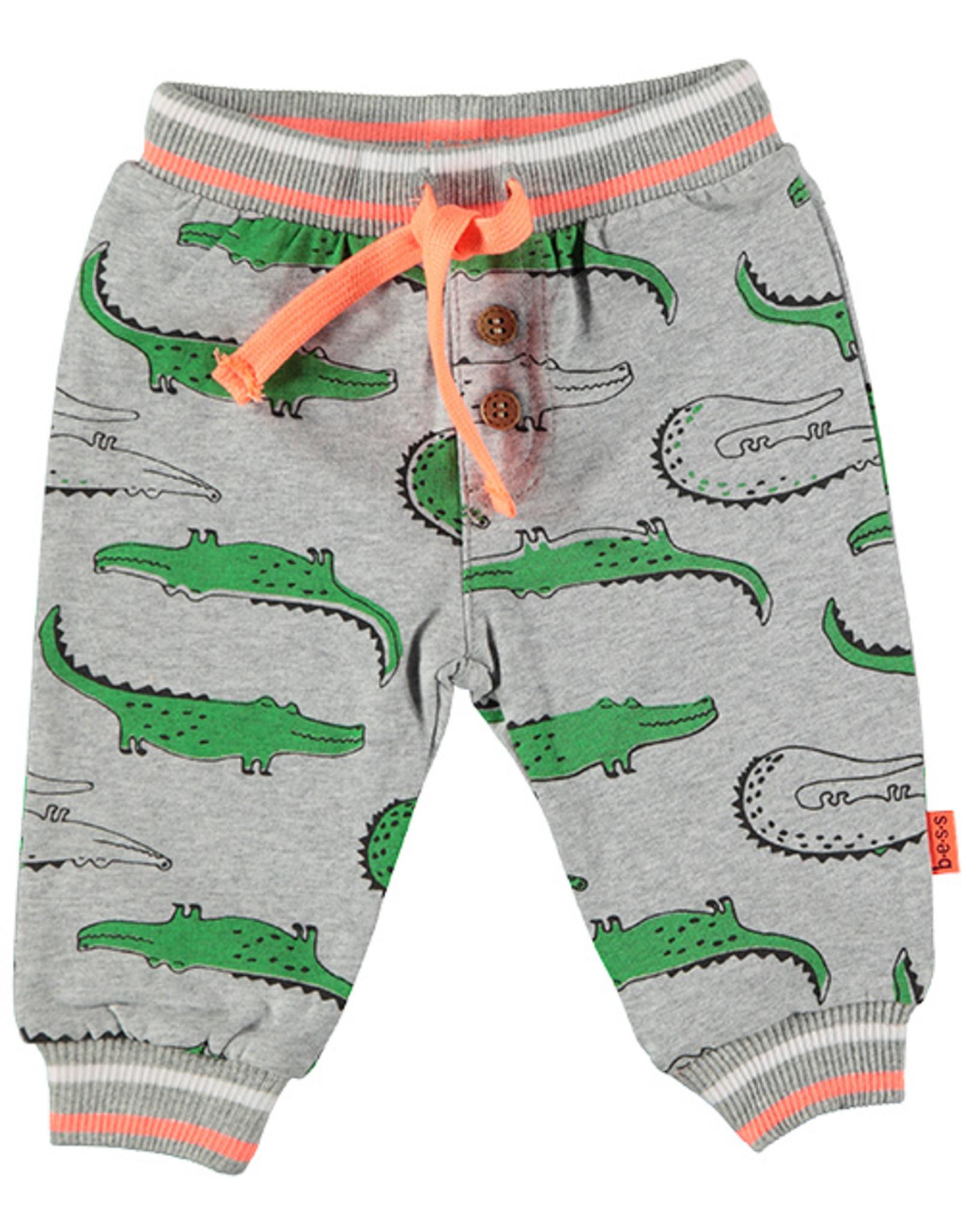 B.E.S.S. Pants AOP Crocodile, Grey