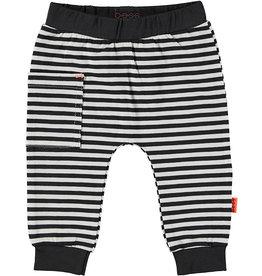 B.E.S.S. Pants Striped Sidepocket, Black