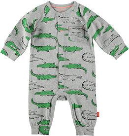 B.E.S.S. Suit AOP Crocodile, Grey