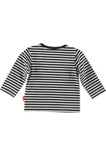 B.E.S.S. Shirt l.sl. Striped BESS, White