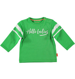 B.E.S.S. Shirt l.sl. Hello Ladies, Green
