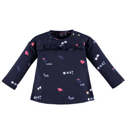 Babyface Girls t-shirt l.sl. BLUE NAVY