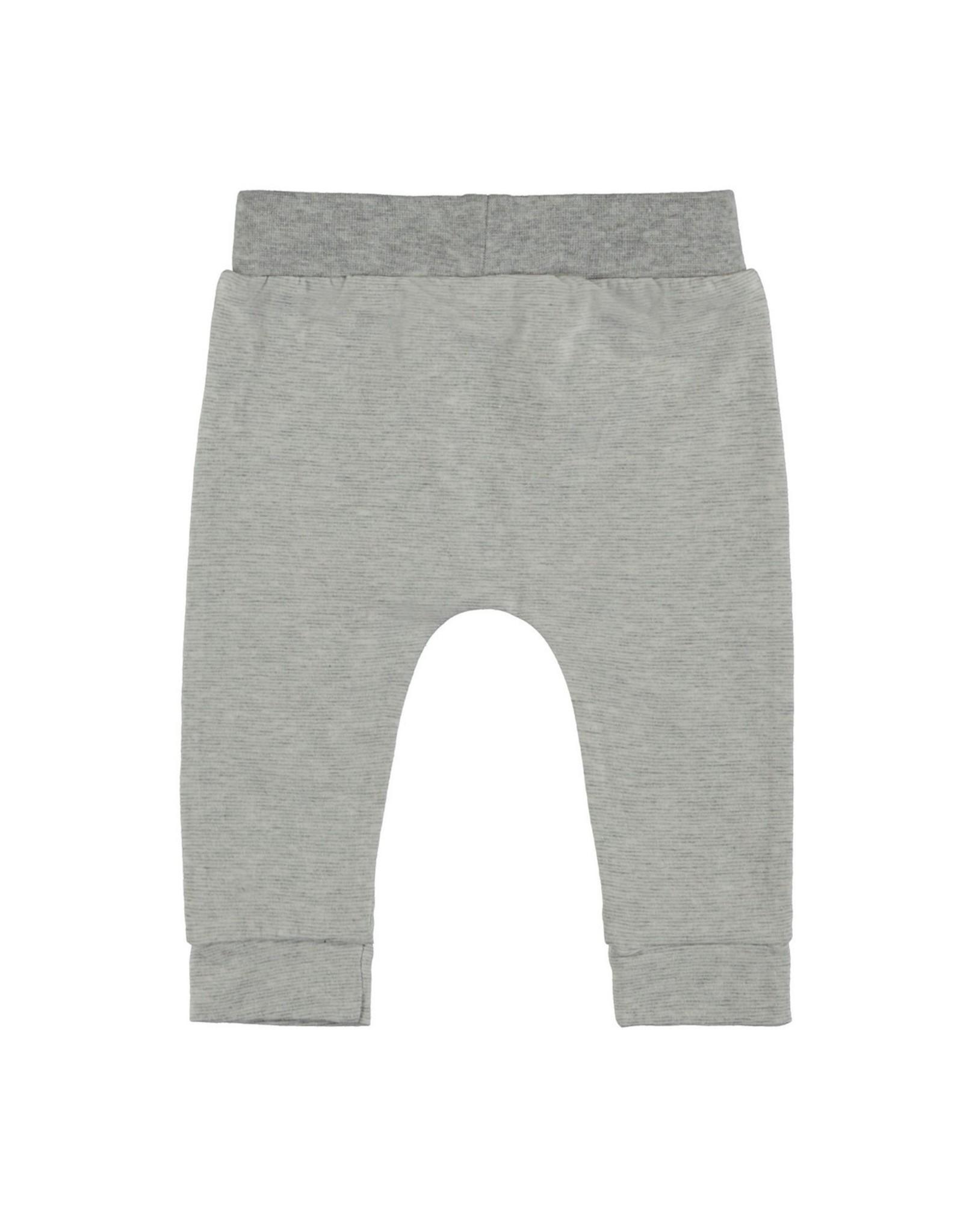 Bampidano New Born trousers melange y/d stripe, grey melee stripe