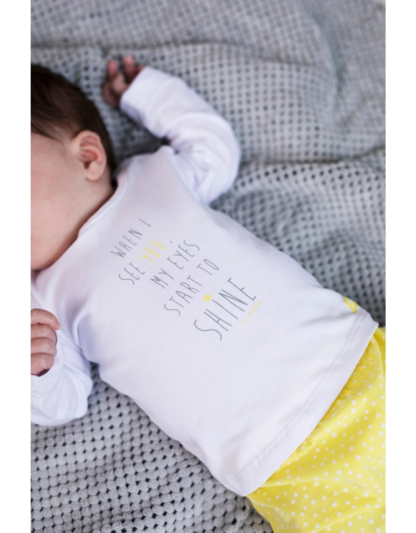 Bampidano New Born trousers allover print, yellow allover
