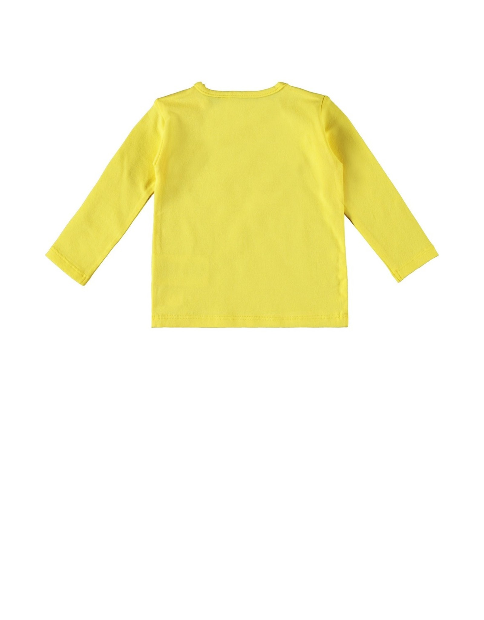 Bampidano New Born T-shirt l/s plain MY EYES START TO SHINE / GIVE ME A SMILE, yellow