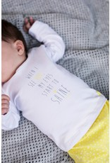 Bampidano New Born T-shirt l/s plain MY EYES START TO SHINE / GIVE ME A SMILE, white