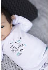 Bampidano New Born T-shirt l/s plain LOVE YOU / LITTLE SPROUD, white