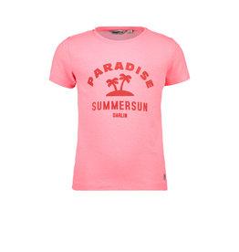 Moodstreet MT t-shirt chestprint, diva pink