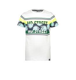 Moodstreet MT t-shirt chest&sleeve print, white