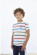 Moodstreet MT t-shirt stripe, Warm White
