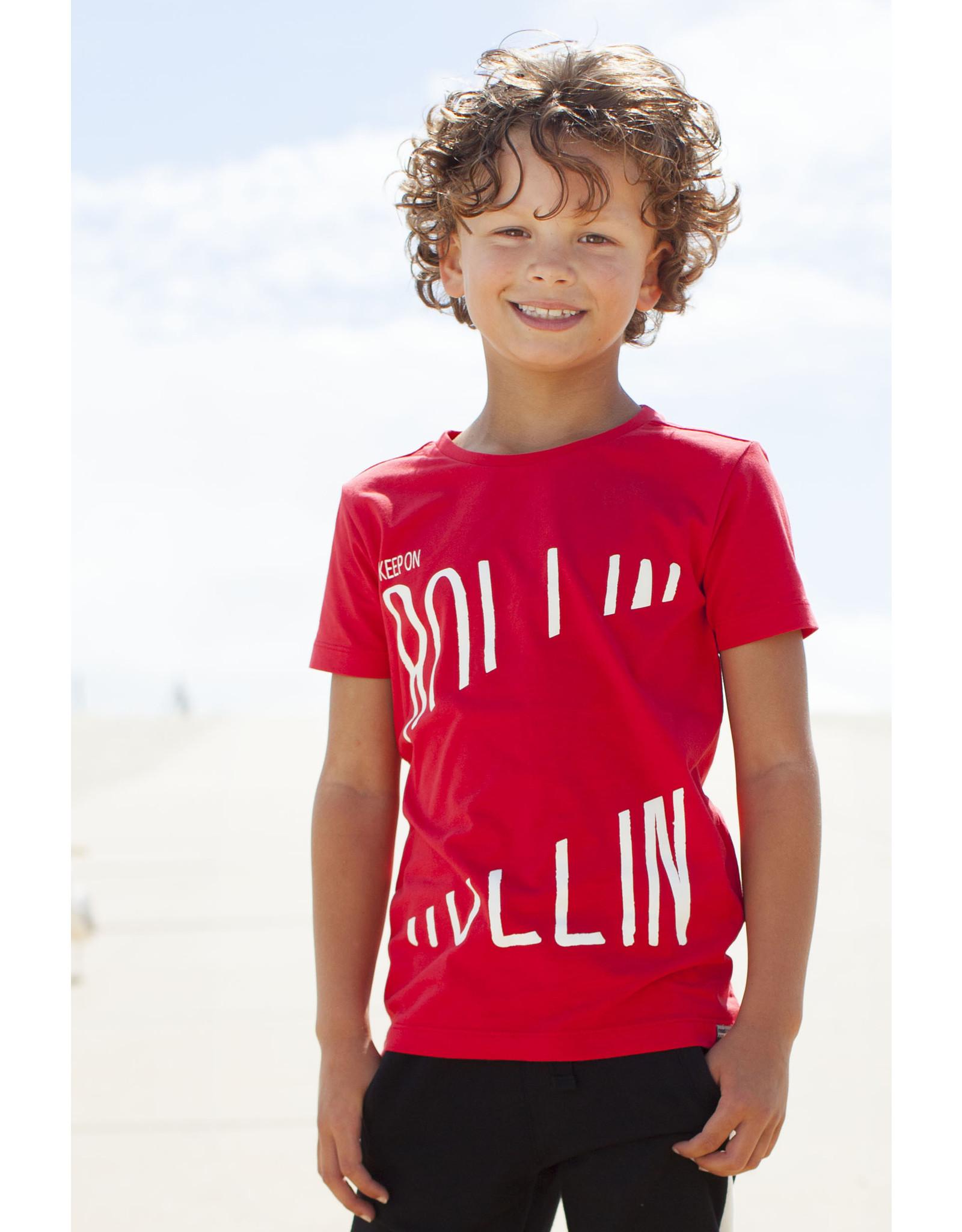 Moodstreet MT t-shirt chestprint, Red